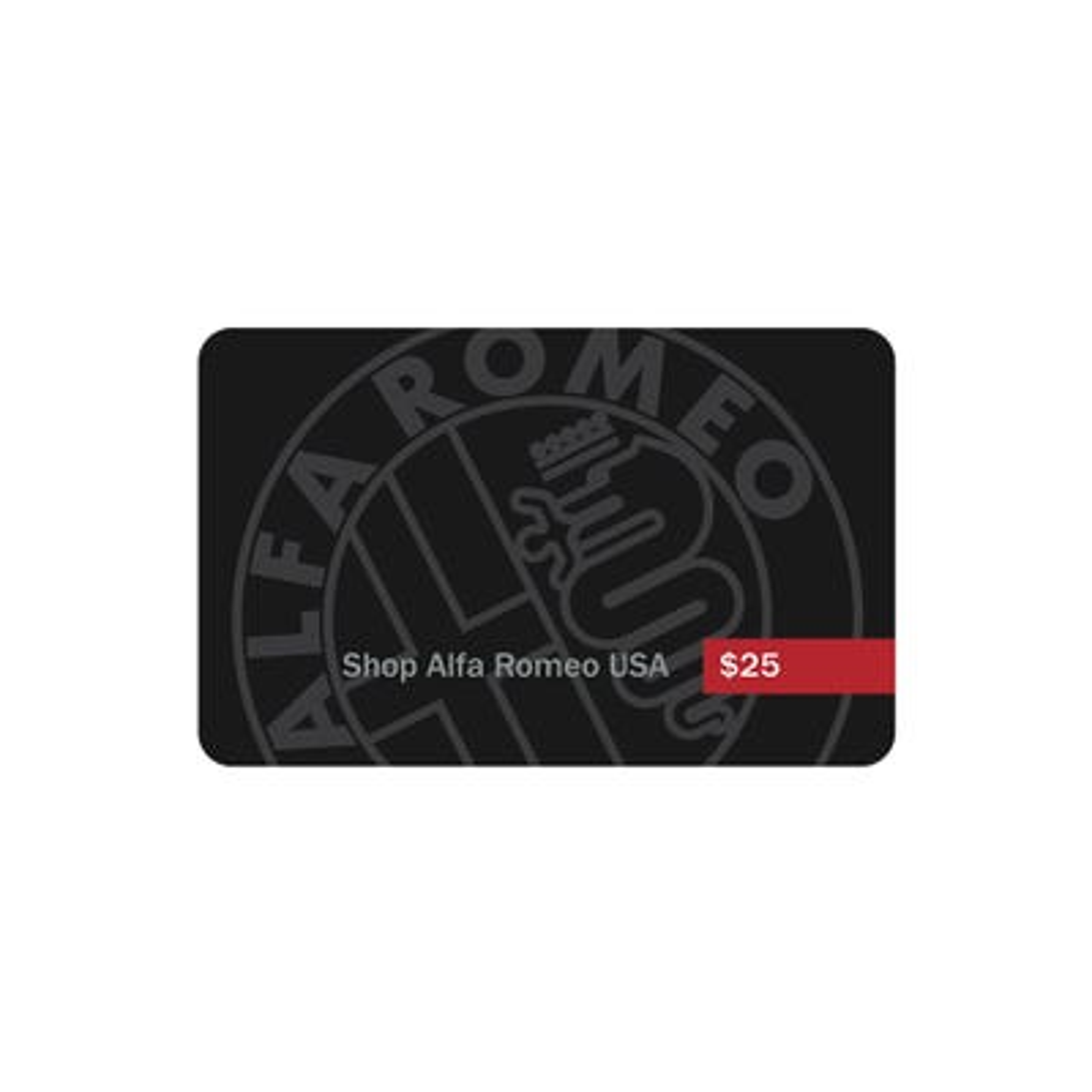 $25 Alfa Romeo Gift Card