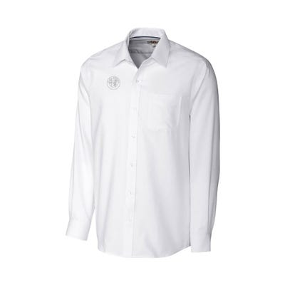 Men's Long Sleeve Tailored Fit Nailshead Woven
