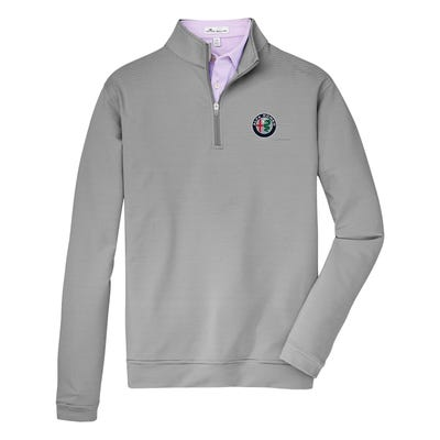 Peter Millar Perth Mini Stripe Performance 1/4 Zip